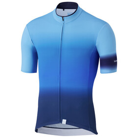 Shimano Mirror Cool Maillot Manches courtes Homme, blue